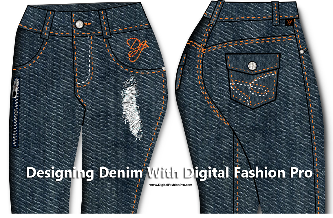 Designing Denim Jeans with Digital Fashion Pro - infographic