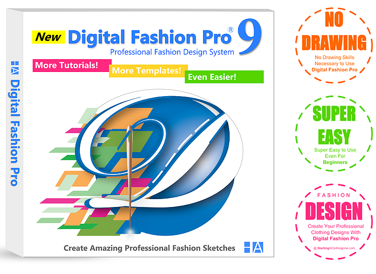 Digital Fashion Pro Industry Edition Sketching Software