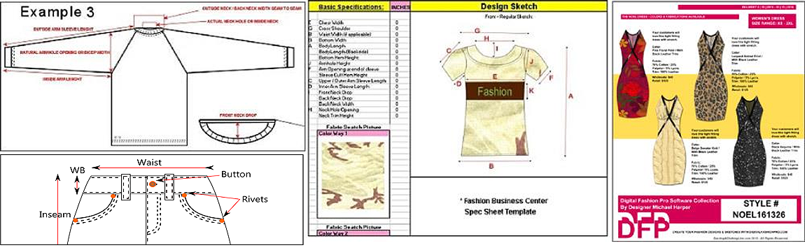 Create a garment tech pack