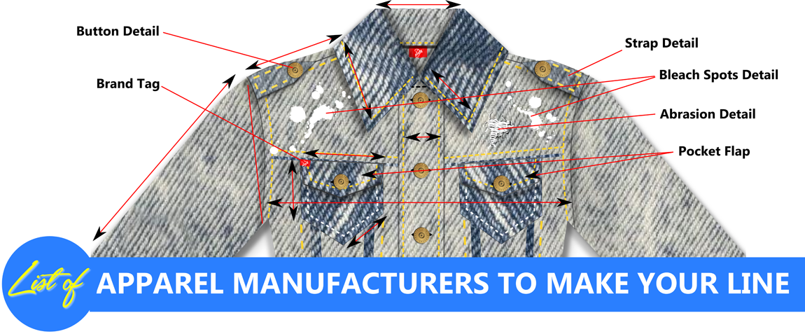 list of clothing manufacturers factory made clothes