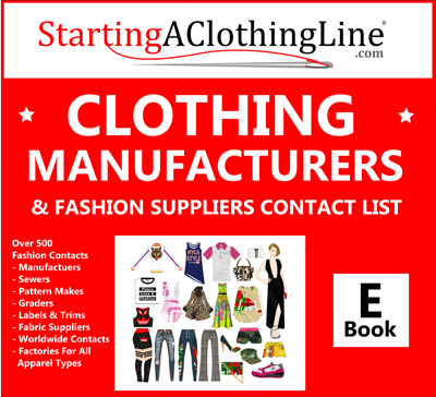 list of clothing manufacturers designer cloth manufacturing